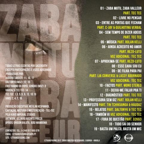 Álbum: Sacerdoth - Zaba Mutu Zaba Valleur [Download]