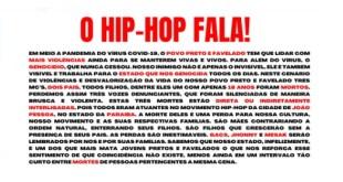 Coletivos assinam manifesto em denúncia às mortes de três MC´s em João Pessoa (Brasil)