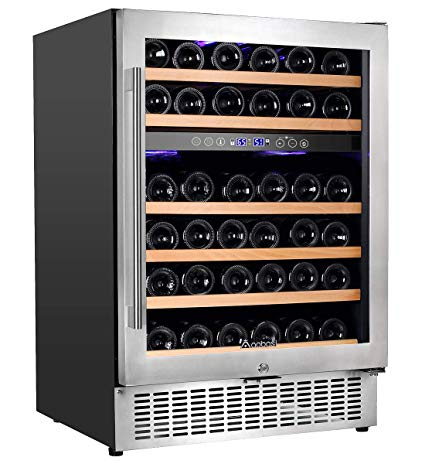Aobosi 24'' Dual Zone Wine Cooler 46 Bottle