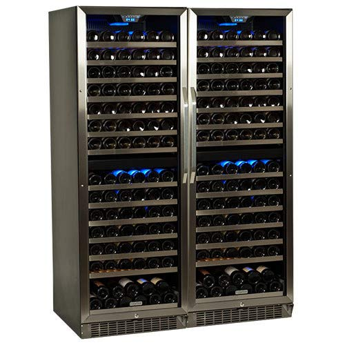 EdgeStar CWR1551DZDUAL 310 Bottle Built-in Side-by-Side Wine Cooler