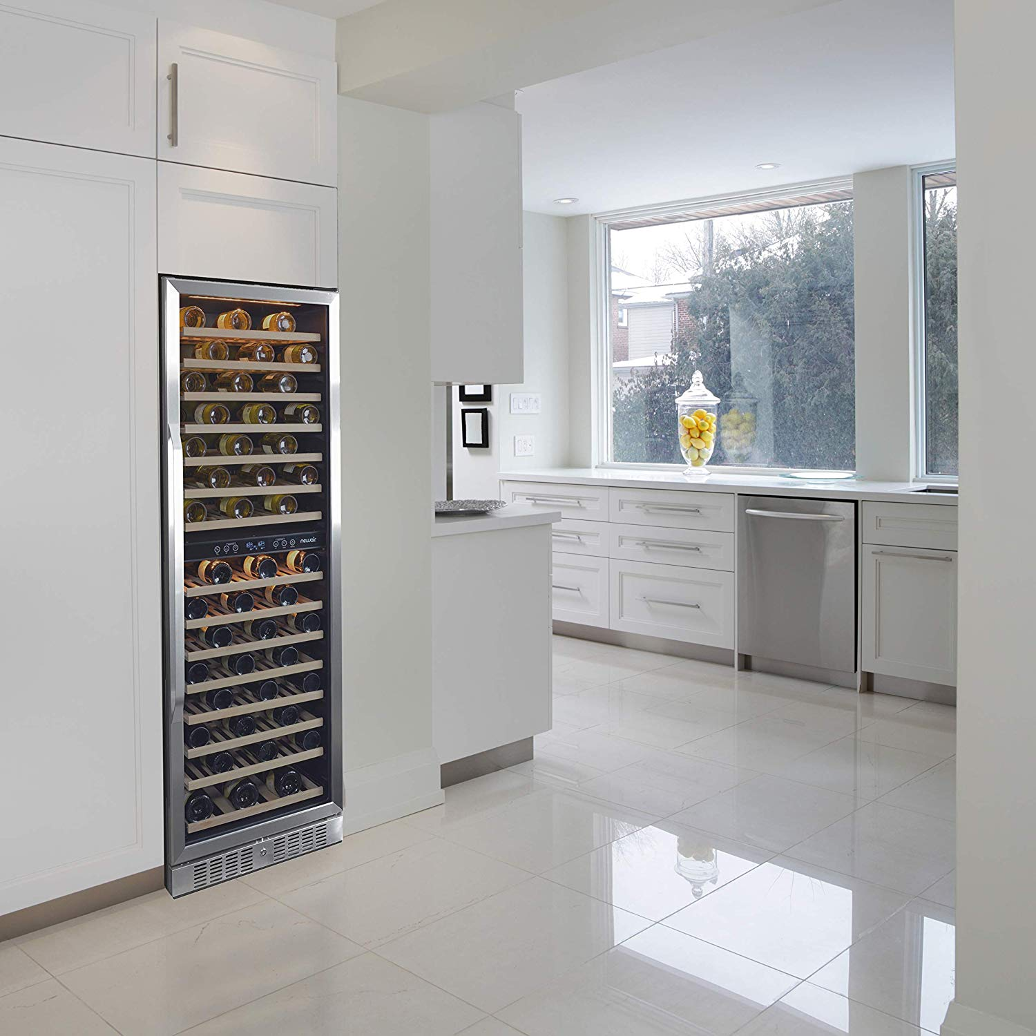 NewAir AWR-1600DB Premier Gold Series 160 Bottle Built-In WIne Cooler