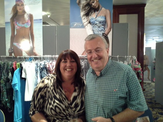 Mrs Dawn Barber (UK Beachwear) and Mr David Lyons (Roidal UK representative)