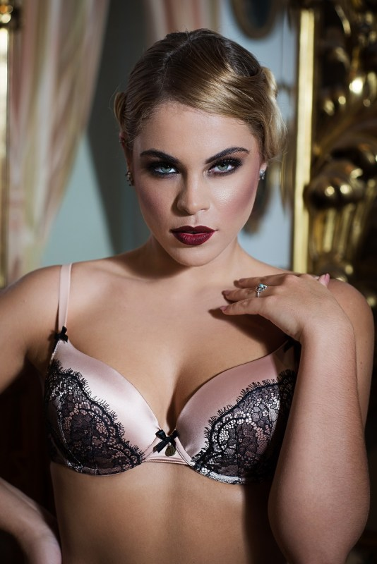Tallulah Love Luxury Lingerie AW14 Chantilly Blush RRP Bra £45 Briefs £25 _ low res