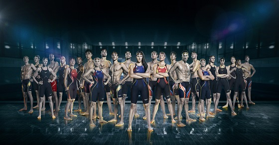 The special edition suits will be worn by Speedo sponsored swimmers from the USA, Australia, China, Spain, Japan, Canada and Israel