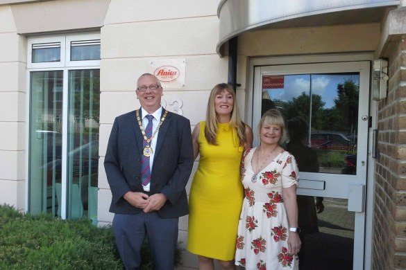 The Mayor and Mayoress of Milton Keynes with Jemma Barnes