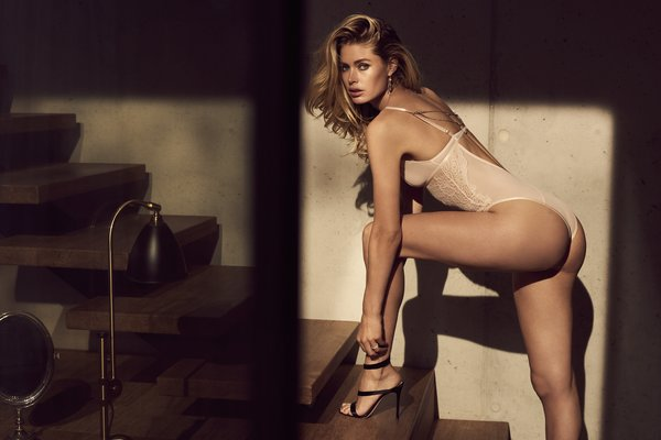 8f6f056f91baa Doutzen Kroes poses against a luxury boudoir backdrop for the new  Hunkemoller campaign. The newest 'Doutzen Stories' collection features an  exquisite ...