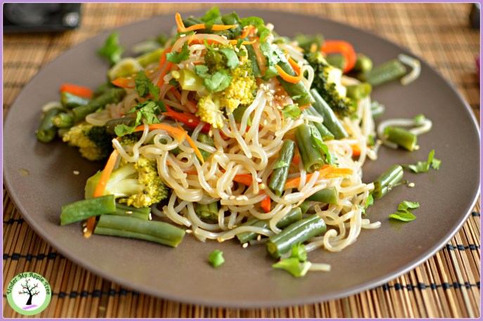 Nouilles shirataki aux légumes