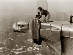 LIFE photographer Margaret Bourke-White making a precarious
