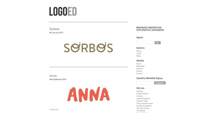 Logoed's simple UI makes the logos stand out