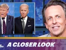 'Like watching democracy get a lobotomy': Seth Meyers condemns 'embarrassing' Biden-Trump debate