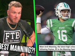 Pat McAfee calls Arch Manning's TV debut 'unbelievable'