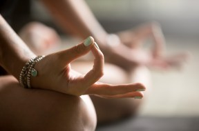 Gyan mudra close up image