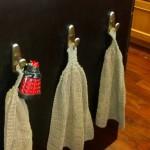 Dalek hanging from dishtowel