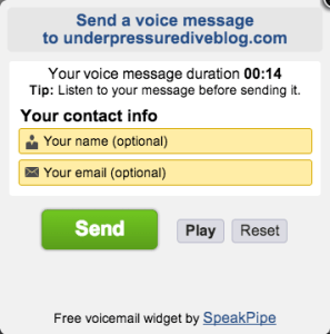 Send your voicemail to SKuba Steve!
