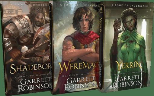 Shadeborn, Weremage, and Yerrin Hardcovers