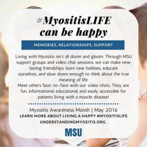 Myositis life can be happy