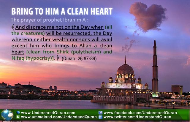 BRING TO HIM A CLEAN HEART