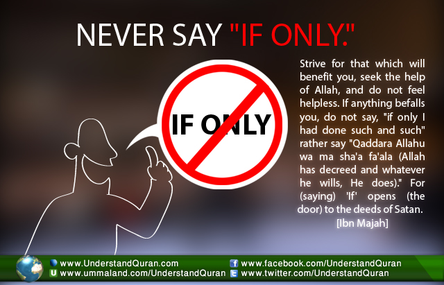 """Never Say """"If Only"""" [Learn Quran Online with UQA"""