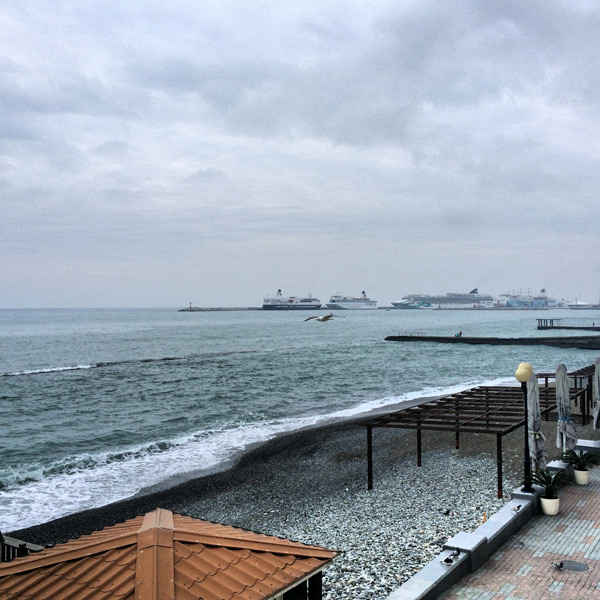Black sea in Sochi