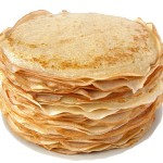 Russian blinis stack