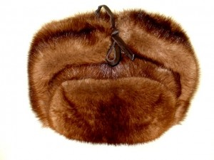 "Famous Russian fur hat - ""shapka-ushanka"""