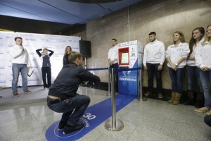 City Olympic initiative - free subway ride in exchange for 30 squats