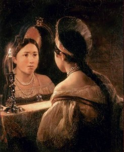 Fortune telling using a mirror