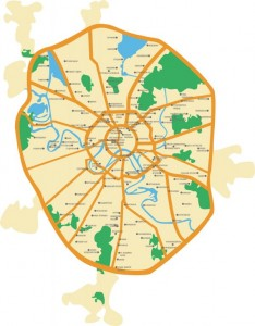 Schematic map of Moscow
