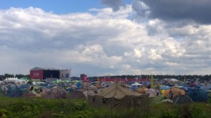 Nashestvie music festival tents