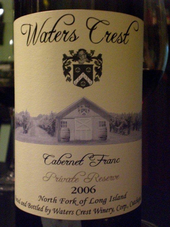 Waters Crest 2006 Cab Franc