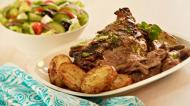 Slow-roasted Greek Lamb with Lemon and Potatoes