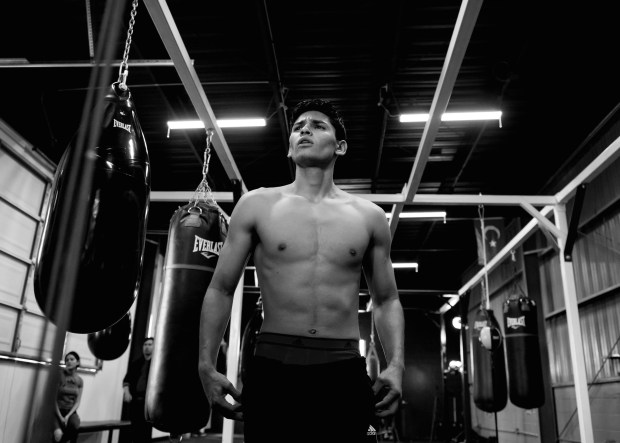 Ryan Garcia Super Hero Pose