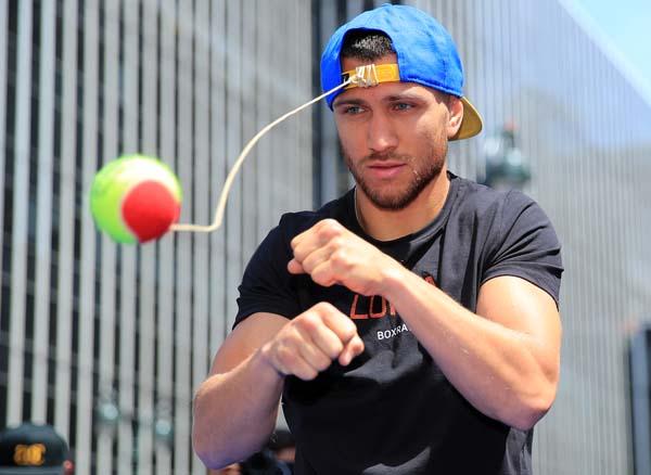 Vasyl Lomachenko tennis ball