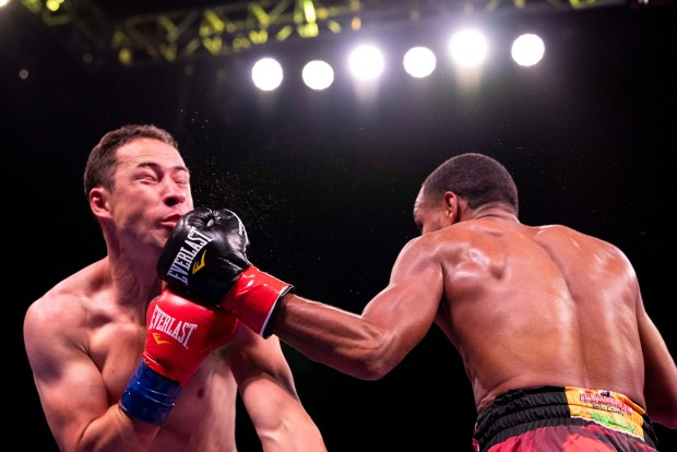 Danielito Zorrilla lands a left hook Photo Lina Baker