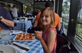 """""""Oh my, pizza at the Hudson River in New York City! I love it!"""""""