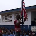 Flag raised at Liberia school