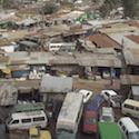Ariel view of Kibera slum in Kenya