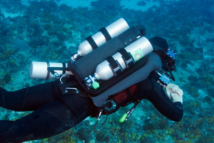 Diving my KISS Classic with the Dive Rite CCR XT wing