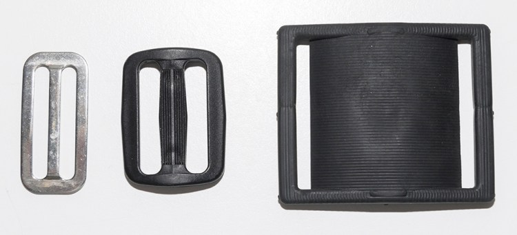 1.5-inch wide belt slides and DSS Cam Strap Tension Pad