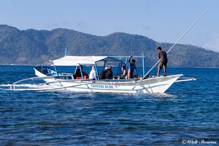 One of Crystal Blue Resort's dive boats