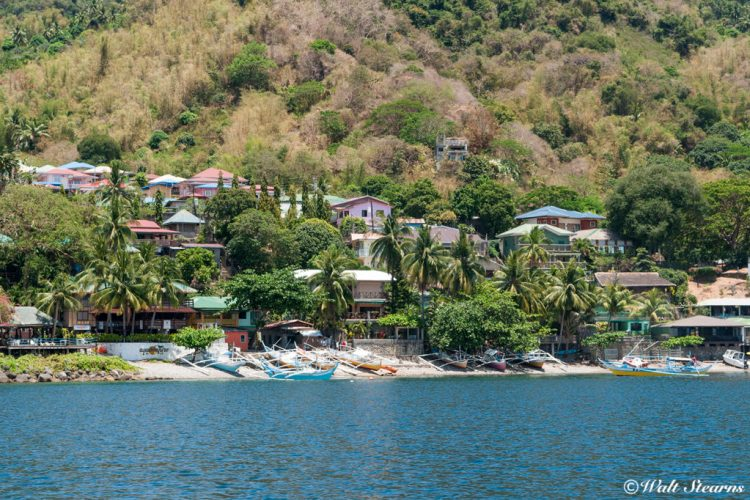 A typical view of Anilao's shoreline on the north side of the Calumpan Peninsula.