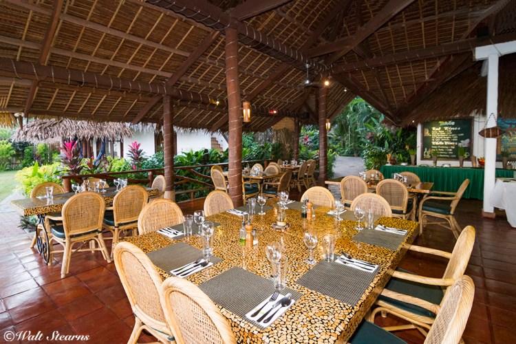 Atlantis Dumaguete's beach side restaurant.