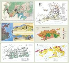 Planos realizados por Verena Andreatta para el Atlas de los planos urbanísticos de Río de Janeiro.