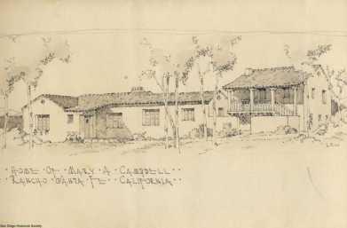 Lilian Jeannette Rice, Casa Mary A. Campell, Rancho Santa Fe