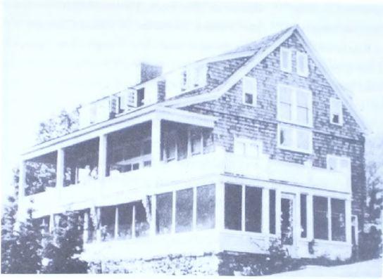 Ruth Maxon Adams, Granero remodelado como centro social, cocina comunitaria y comedor, Yelping Hill, Connecticut, 1922