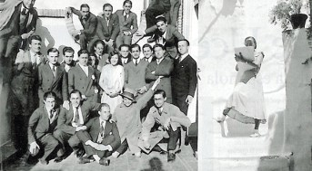 Matilde Ucelay y sus compañeros de clase