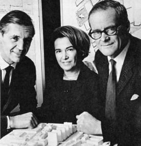 Léonie Geisendorf, Ralph Erskine y Anders Tengbo. 1966