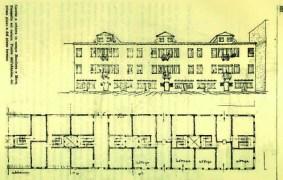 Egle Trincanato, 2 casas en Campo Bandiera y Moro en Castello en Venezia minore, 1948