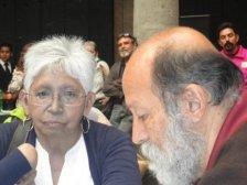 Lourdes García Vázquez en una reunión con el movimiento urbano popular de la Ciudad de México