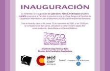 Lourdes García Vázquez, Invitación a la inauguración del LAHAS